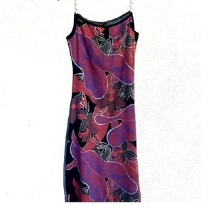 NWOT Floral Dress with Chain Straps
